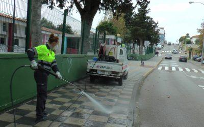 Los colegios del municipio, dentro del repaso diario del plan de desinfección