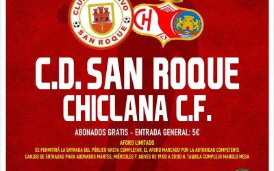 El CD San Roque activa desde hoy al jueves la retirada de entradas para el partido ante el Chiclana C.F.