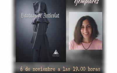 """Mañana viernes se presenta en la Biblioteca el libro """"Estatuas de Anticolat"""""""