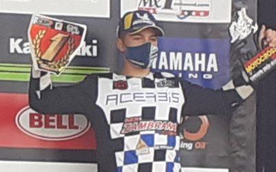 """Fran """"Carbonero"""" se proclama en Badajoz campeón de España de motocross en 85 cc"""