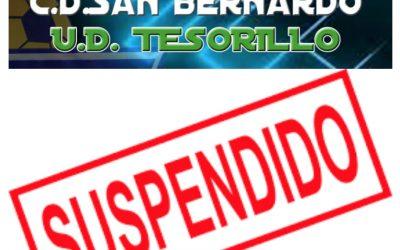 El CD San Bernardo suspende el derbi ante la UD Tesorillo por tres casos de COVID-19 en su plantilla