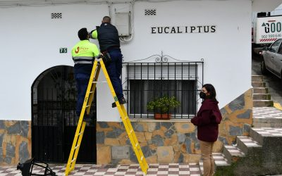 Eficiencia Energética instala 24 farolas nuevas con lámparas led en la calle Eucaliptus