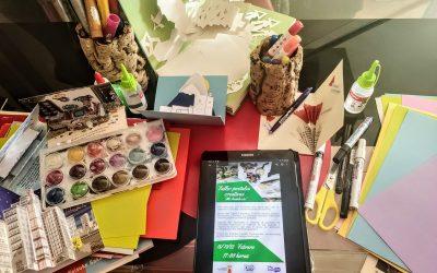 Comienza el primero de los talleres online de EducArte, sobre Postales Creativas