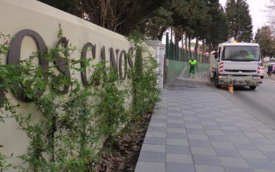 El operativo encargado de la desinfección por el Covid-19 sigue sin descanso por todo el municipio