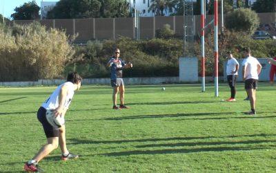 El balón oval vuelve a ser protagonista en el regreso a los entrenamientos de C.R. El Estrecho Sub 16 y Sub 18
