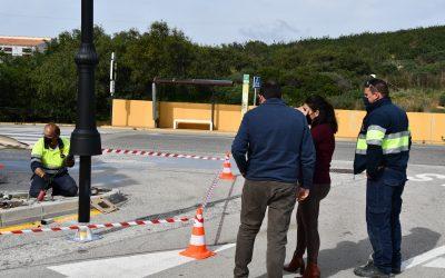 Instalación de 20 farolas con tecnología led en dos calles de Torreguadiaro