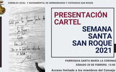 El sábado, presentación del Cartel de Semana Santa 2021, obra de Juan Miguel Martín Mena