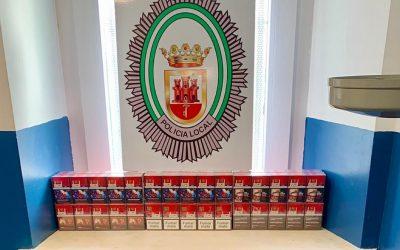 La Policía Local aborta en Puente Mayorga un contrabando de tabaco