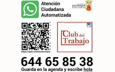 El WhatsApp del Ayuntamiento incorpora los servicios del Club del Trabajo