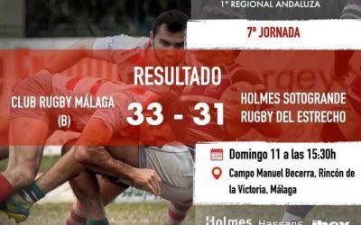 """Rugby del Estrecho Senior dio la cara ante CR Málaga """"B"""""""