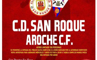 El San Roque se enfrenta al Aroche, este domingo, en el cuarto encuentro de liguilla por la salvación