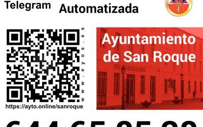 El servicio de mensajería municipal, también en la app Telegram