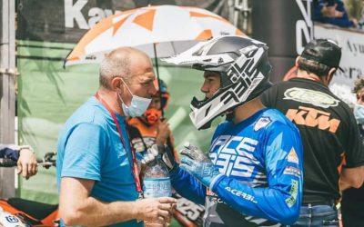 Una caída en pista frena a Francisco García para afianzarse en el Campeonato de Andalucía MX 125