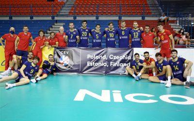 Andrés Villena, con la selección española de voleibol de cara al Campeonato de Europa de este verano
