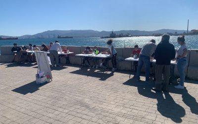 """Desarrollada la primera sesión de """"Pesca con nosotr@s"""", una actividad para los vecinos de Puente Mayorga"""