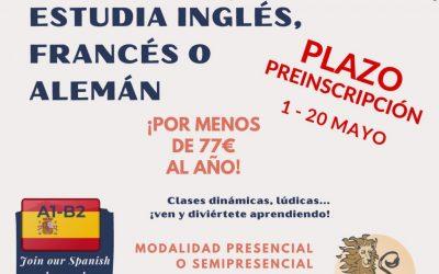 Abierto el plazo de preinscripción en la Escuela Oficial de Idiomas de San Roque