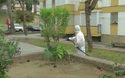 Limpieza de choque en la barriada de la Paz