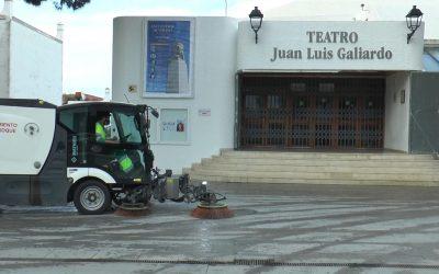 El plan de desinfección sigue en las calles y plazas más concurridas del municipio