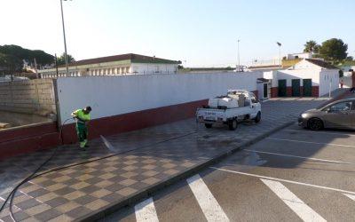 Realizada, un día más, la limpieza y desinfección de espacios públicos de todo el municipio