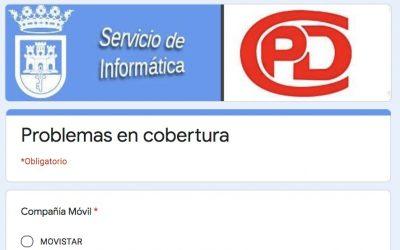 Preparado un formulario para encauzar las quejas de vecinos sobre cobertura en zonas del Casco