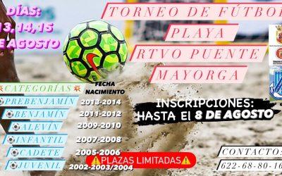 Abiertas las inscripciones del Torneo de Fútbol Playa de Puente, que se celebrará en agosto