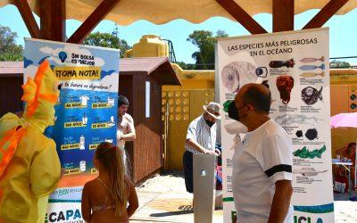 """""""Recapacicla"""" enseña a los pequeños a respetar el medio ambiente en la playa de Guadarranque"""