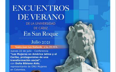La exministra de Igualdad, Bibiana Aído, en los Encuentros de la UCA en San Roque