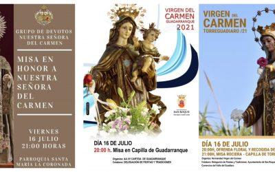 La festividad de la Virgen del Carmen, en los templos