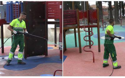 Limpieza Viaria acomete la desinfección de los parques infantiles del municipio