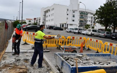 Obras de mejoras en la barriada de la Paz