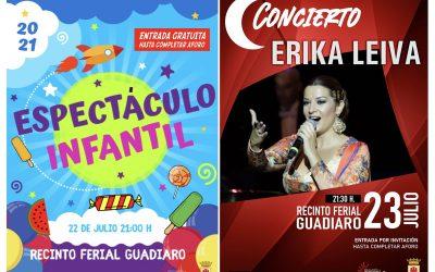 Espectáculo Infantil y concierto de Erika Leyva, en Guadiaro