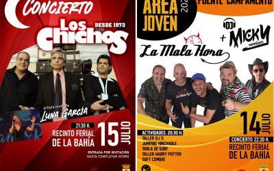 """Disponibles las invitaciones para el concierto de """"Los Chichos"""" y el Área Joven de la Bahía"""