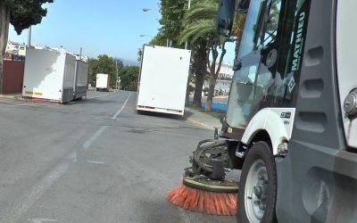 Tareas diarias de limpieza y desinfección en distintos núcleos de población del municipio