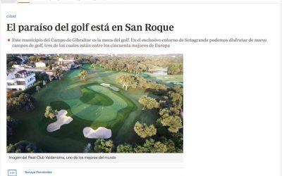 El periódico ABC dedica un reportaje a los nueve campos de golf sanroqueños