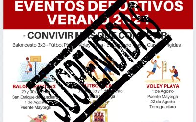 Suspendidas las actividades deportivas previstas para este fin de semana en Torreguadiaro