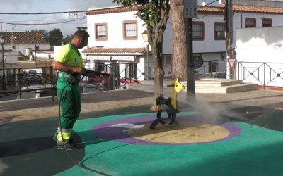 Nueva jornada de limpieza y desinfección en espacios públicos del municipio
