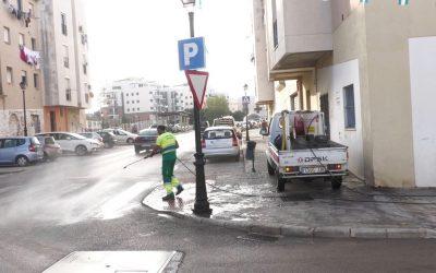 Limpiezas de choque y desinfección, a cargo del plan municipal