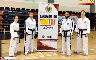 Cuatro miembros del CD Do-San, en el Congreso Nacional de Taekwon-Do ITF de Alicante