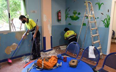 Obras de mejora en la sala de pediatría del Consultorio Médico de Taraguilla