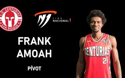 El joven pivot ghanés, Frank Amoah, nuevo jugador del CD Centurias en Primera Nacional