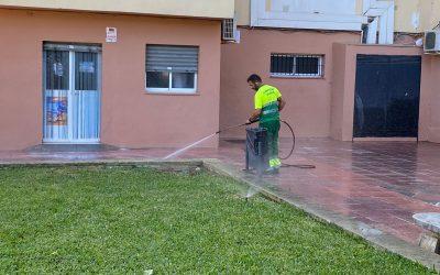 Prosiguen los trabajos de limpieza y desinfección en el municipio
